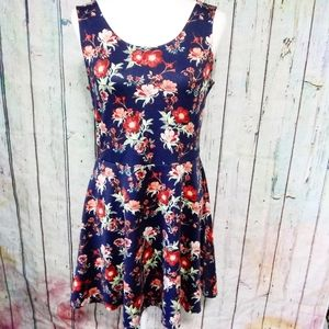 DIVIDED x HM Fit and Flare Floral Dress